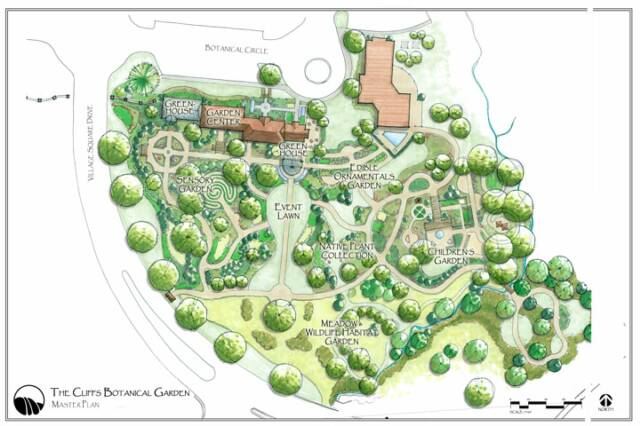 The cliffs botanical gardens designs for Garden design map